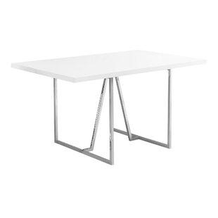 Damiana Metal Dining Table by Latitude Run Great price