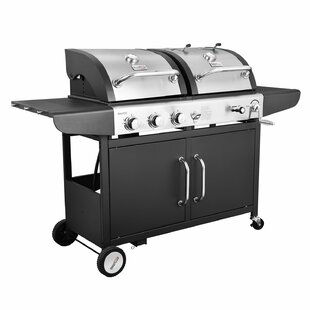 Good purchase Performance 3-Burner Liquid Propane Gas and Charcoal Grill Royal Gourmet Corp