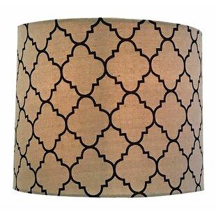Shallow Hardback Eggshell Paper Drum Lamp Shade