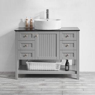 Nadler 42 Single Bathroom Vanity Set by Beachcrest Home