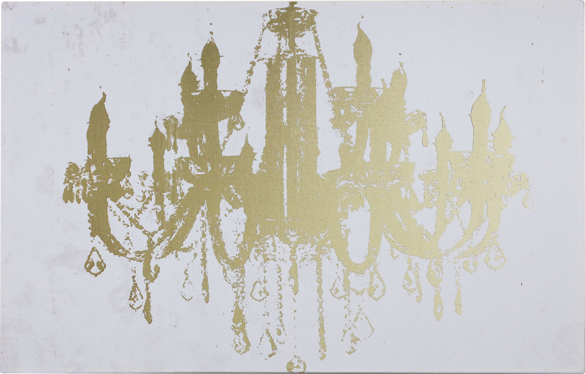 "WexfordHome ""Champagne Gold Diamond Chandelier"" Graphic Art on"