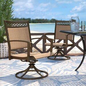 Antila Swivel Patio Dining Chair (Set of 2)