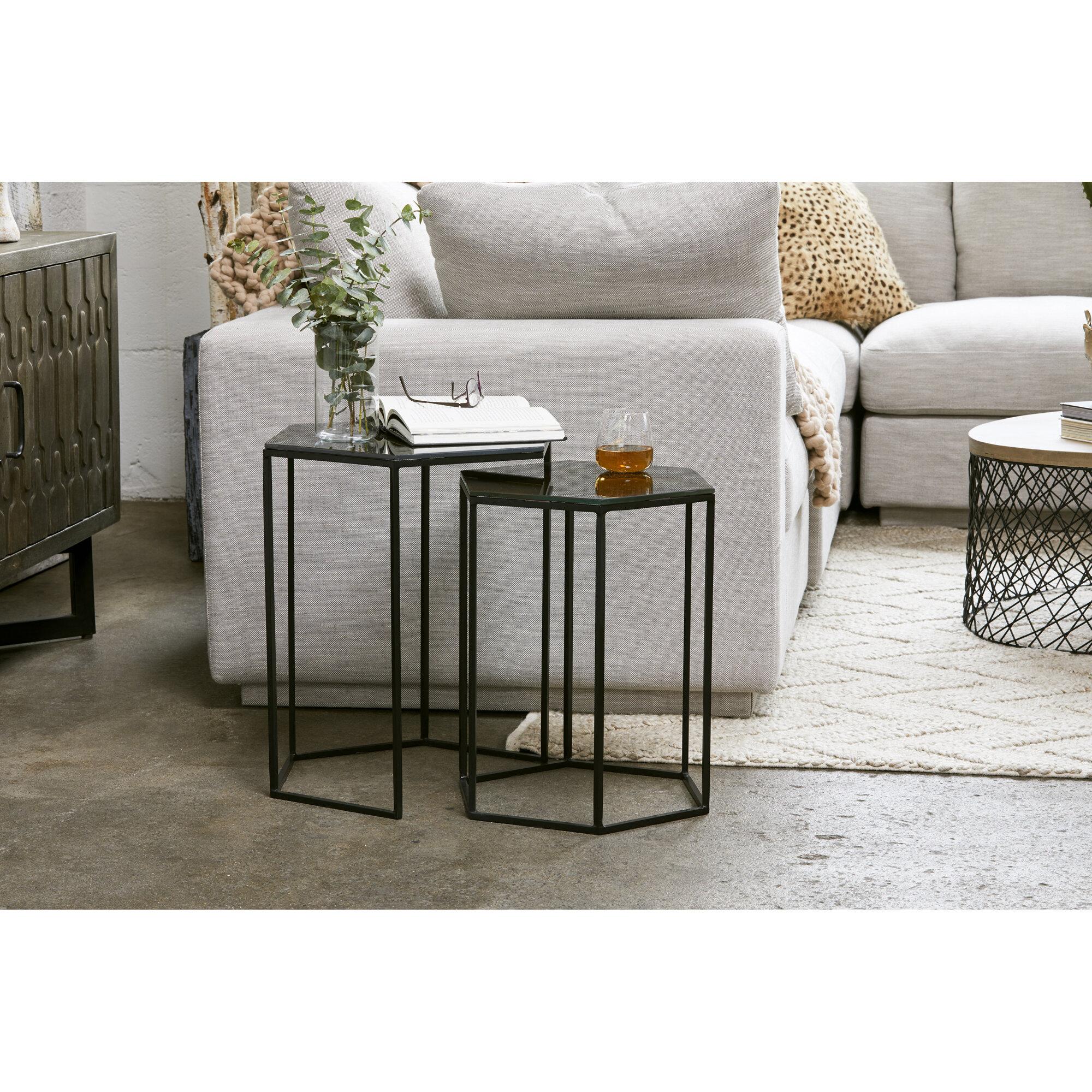 Allmodern Rovel 2 Piece Nesting Tables Wayfair