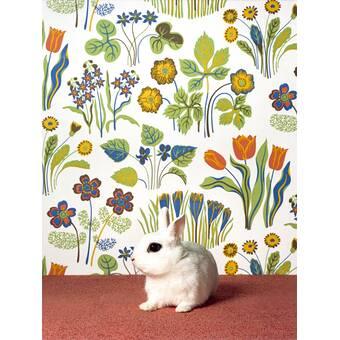 Harriet Bee Ladson Garden Rabbit Paper Print Wayfair