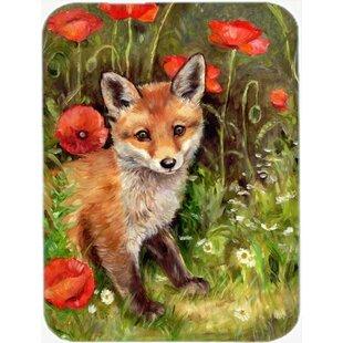 Fox Cub Glass Cutting Board
