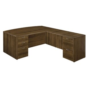 Fairplex 2 Left and 3 Right Drawers L-Shape Executive Desk
