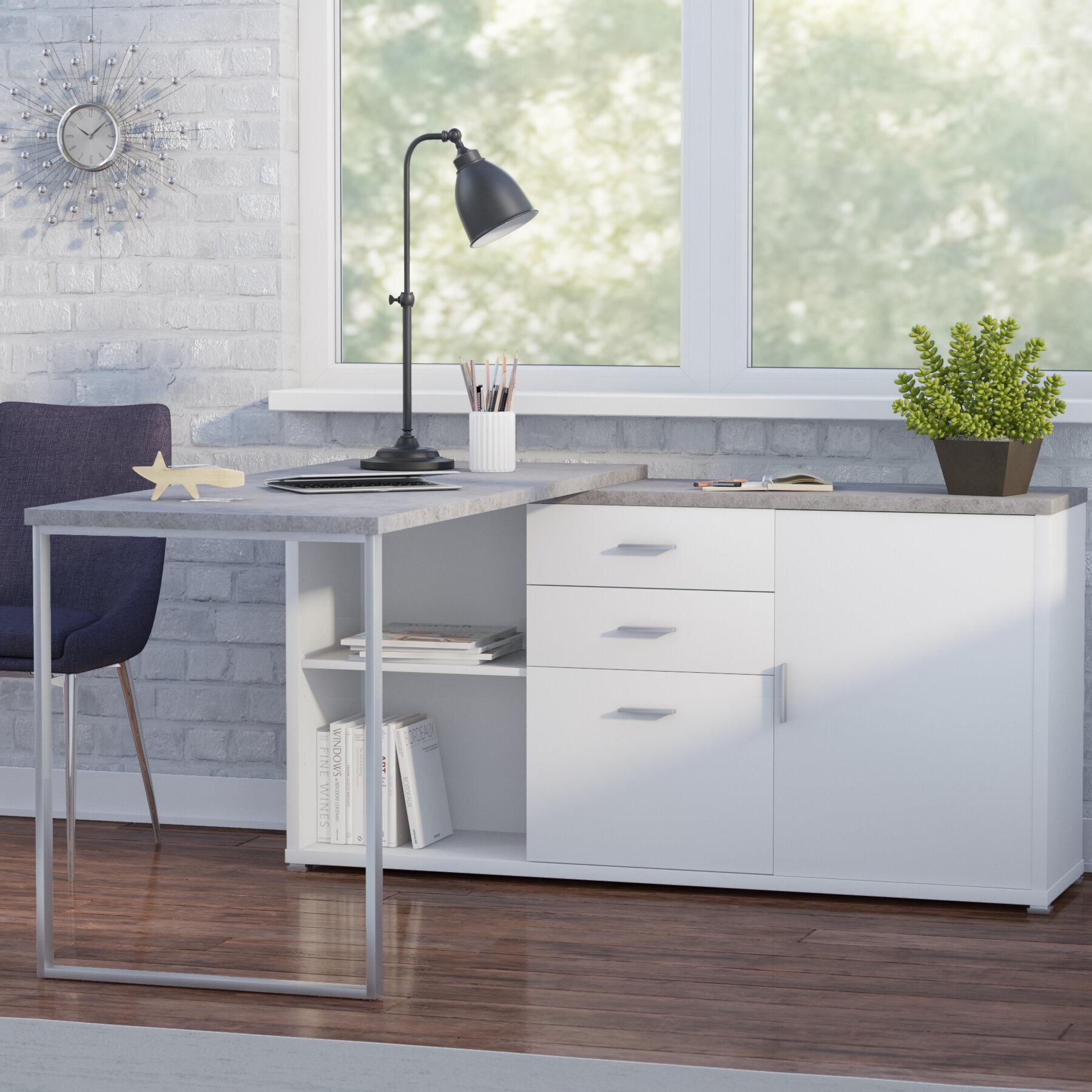 best cheap cf5bb e5759 Dariell 3 Drawer L-Shape Corner Desk