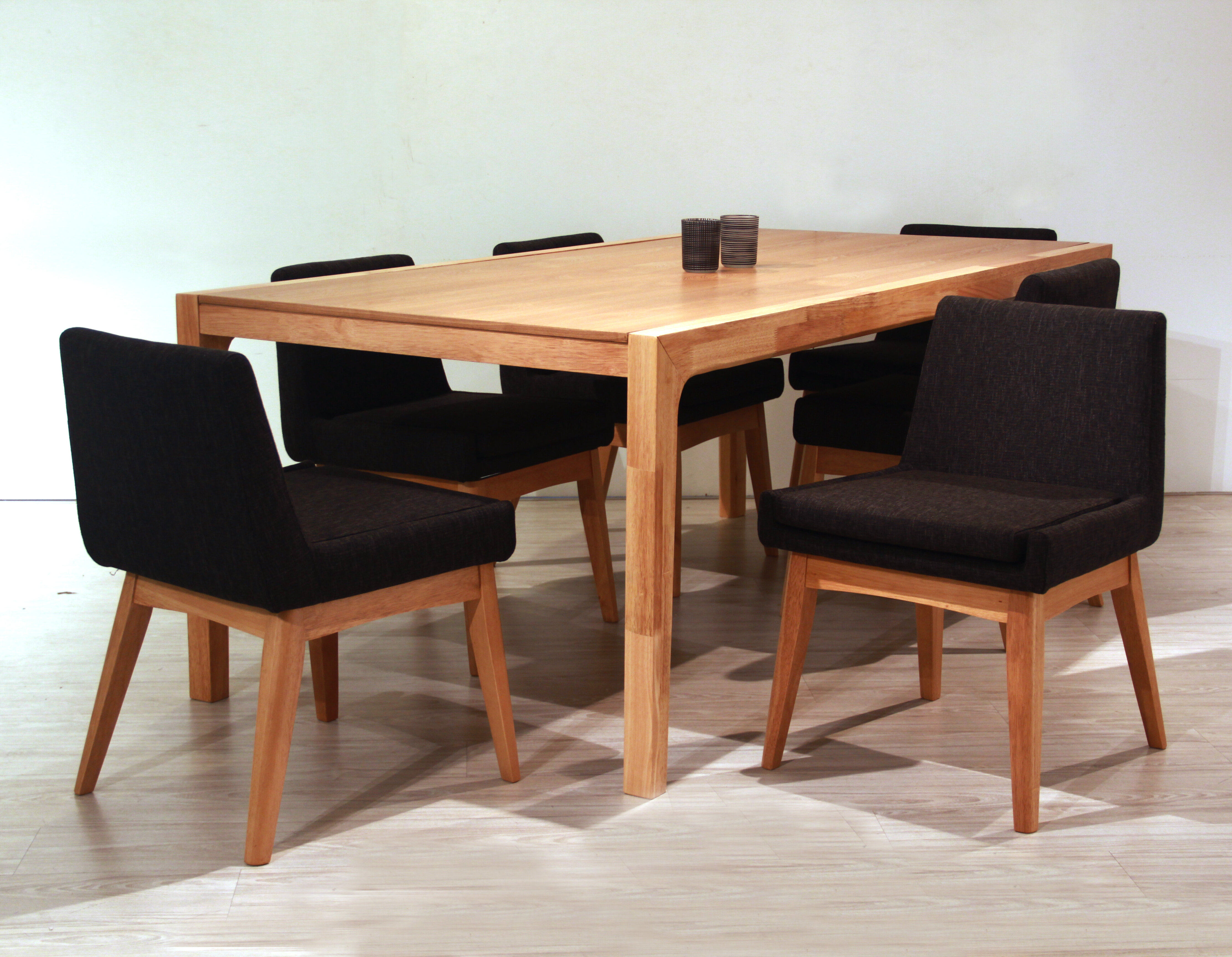 Clark 7 Piece Solid Oak Dining Set Allmodern
