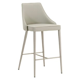 Laddonia Upholstered Bar Stool by Ebern Designs