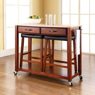 Hedon Kitchen Island Set Three Posts