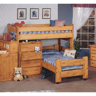 Inexpensive Alderman Twin over Twin L-Shaped Bunk Bed by Harriet Bee Reviews (2019) & Buyer's Guide