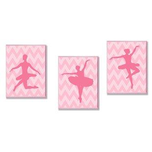 Kleckner Ballerina Poses 3 Piece Wall Plaque Set ByZoomie Kids