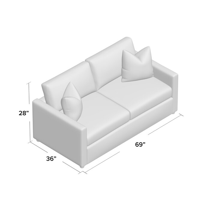 Enso Memory Foam Regular Sleeper Loveseat