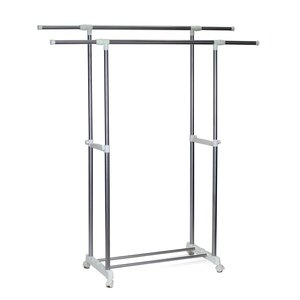 Heavy Duty Dual Level Retractable Rolling Drying Rack