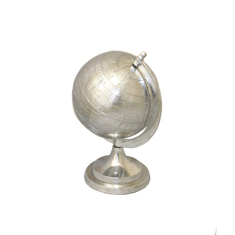 Global Appeal Aluminum Decorative Tabletop Globe