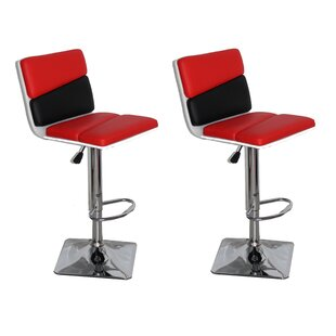 Jerri Adjustable Height Swivel Bar Stool (Set of 2)