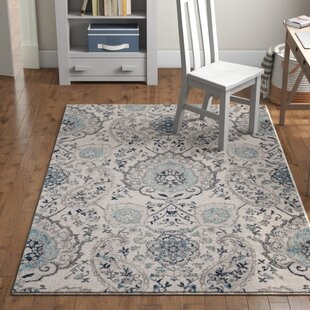 194ffbba Katie Power Loom Polypropylene Cream/Light Grey Indoor Area Rug