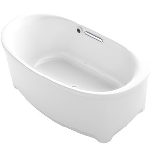 Savings Underscore Oval Freestanding BubbleMassage™ Air Bath with Bask Heated Surface ByKohler