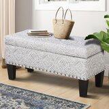 Upholstered Flip Top Storage Bench by Dakota Fields