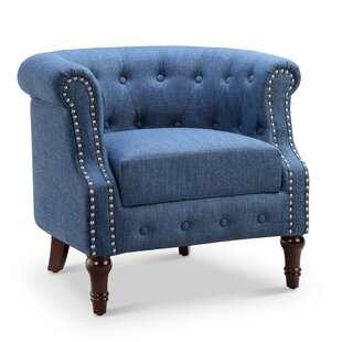 Blue Chesterfield Accent Chairs Youu0027ll Love | Wayfair