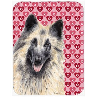 Valentine Hearts Belgian Tervuren Hearts Love and Valentine's Day Glass Cutting Board By Caroline's Treasures