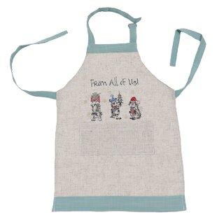 Handmade Children Apron Stars Linen Baking Cookies Cook Dinner Pocket Kids Child Birthday Present Gift Handmade by Rykkens Aprons