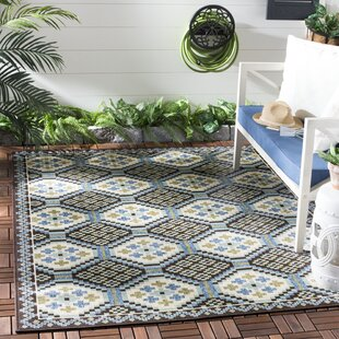 Centeno Blue/Chocolate Indoor/Outdoor Area Rug