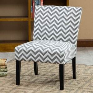 Maurice Wave Print Fabric Slipper Chair by Z..