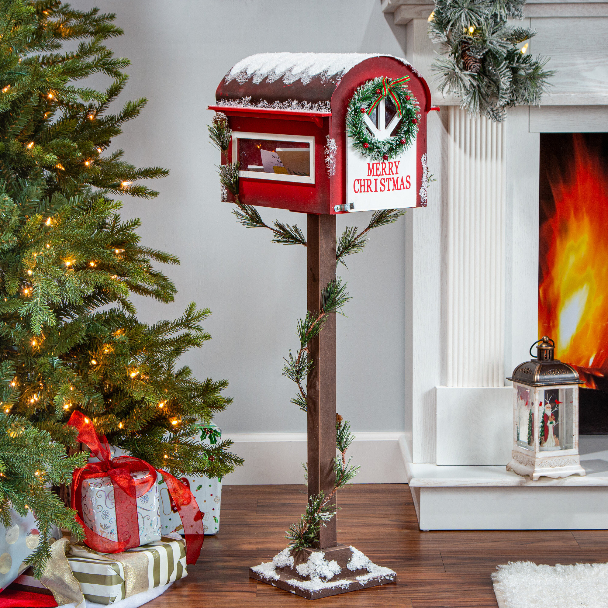 The Holiday Aisle Wooden Holiday Mail Box Wayfair