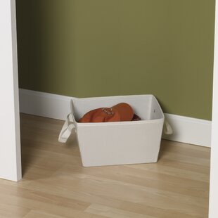Great choice Storage and Organization 7.5 Small Tapered Bin with Cloth Handles By Household Essentials