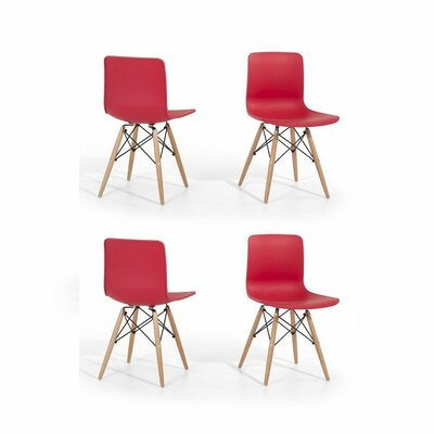 Magnificent Eiffel Style Bobbitt Solid Wood Dining Chair Set Of 4 Dailytribune Chair Design For Home Dailytribuneorg