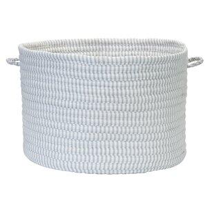 Solid Ticking Storage Basket