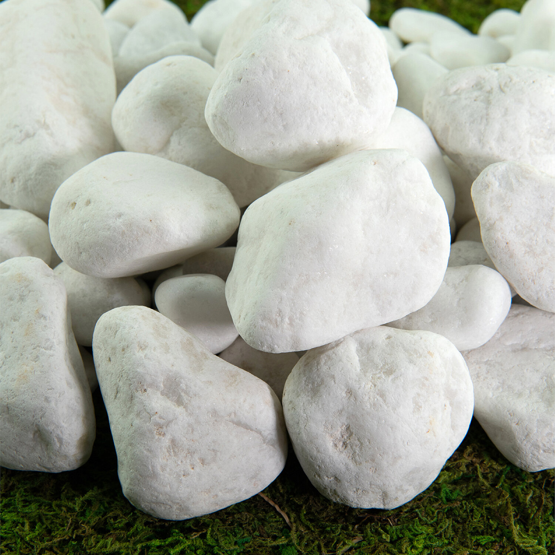 Fire Pit Essentials Natural Garden Porcelain White Landscaping Rocks Reviews Wayfair