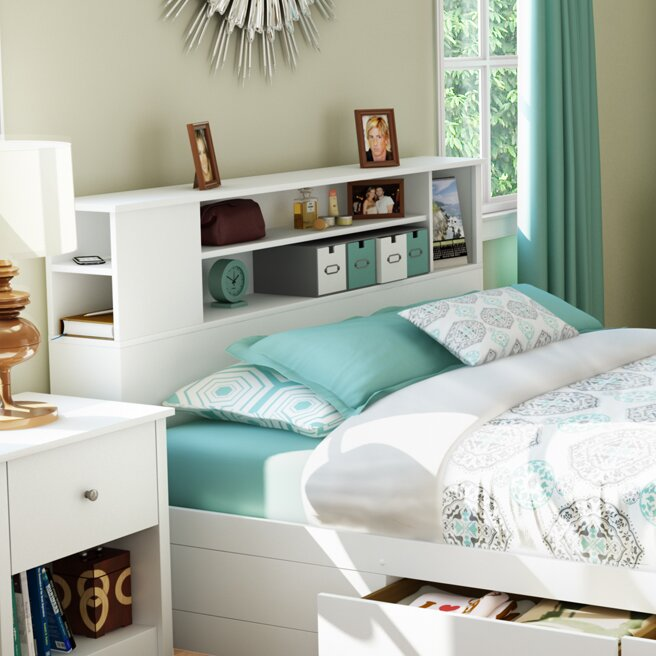 Bookcase Headboard south shore vito bookcase headboard & reviews | wayfair