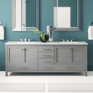 Zeringue 84 Double Bathroom Vanity Set by Brayden Studio
