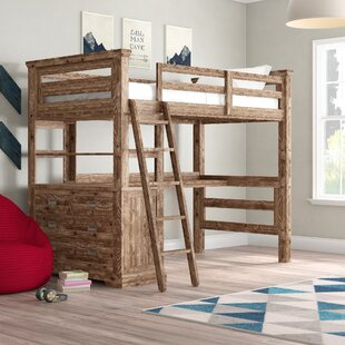 Elise Loft Bed with 4 Drawer Chest End by Grovelane Teen