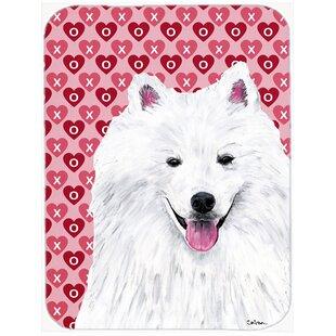 Best Price Valentine Hearts American Eskimo Hearts Love and Valentine's Day Glass Cutting Board ByCaroline's Treasures