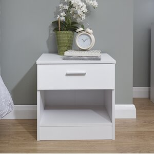 Pearl 1 Drawer Bedside Table