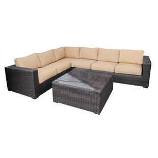 Santa Monica 5 Piece Sectional Set with Cushions