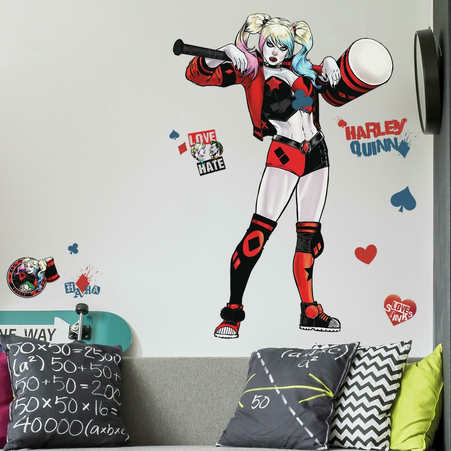 Room Mates Harley Quinn Peel And Stick Wall Decal Wayfair