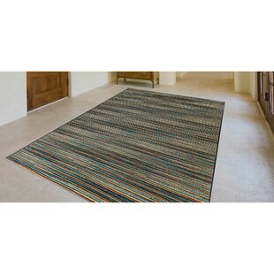 Michaella Stripes Blue Indoor/Outdoor Area Rug