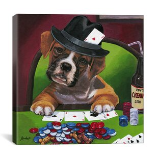 Decorative Poker Dogs Jenny Newland Graphic Art on Canvas by iCanvas