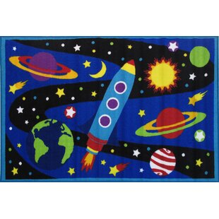 Corina Galaxy Blue Area Rug