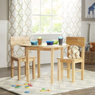 Damato Kids 3 Piece Table and Chair Set By Zoomie Kids