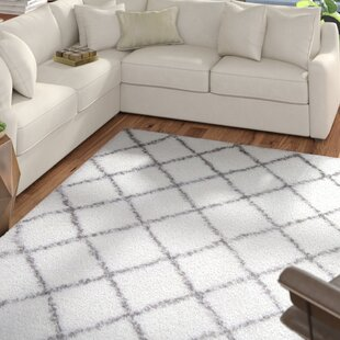 Best Deals Sutton White Area Rug By Wrought Studio