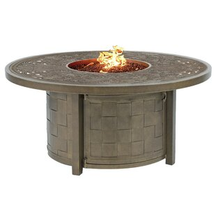 Classical Aluminum Propane Fire Pit Table by Leona Read Reviews
