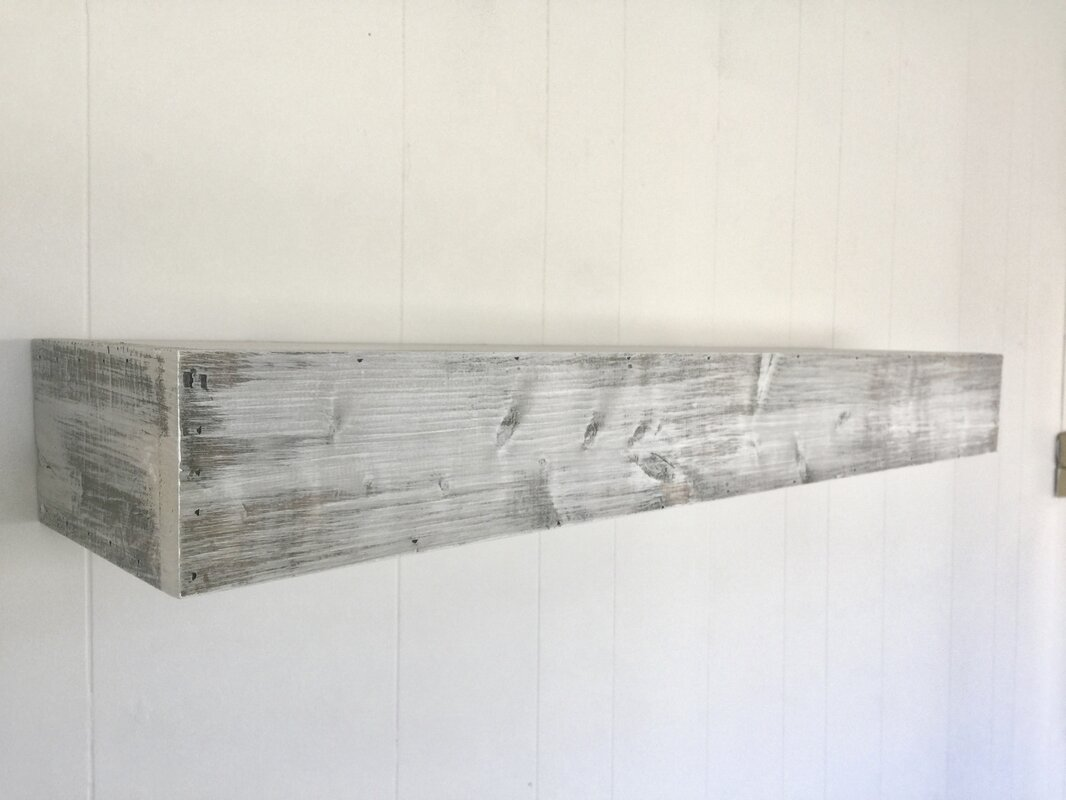 Rustic Grey Floating Shelves