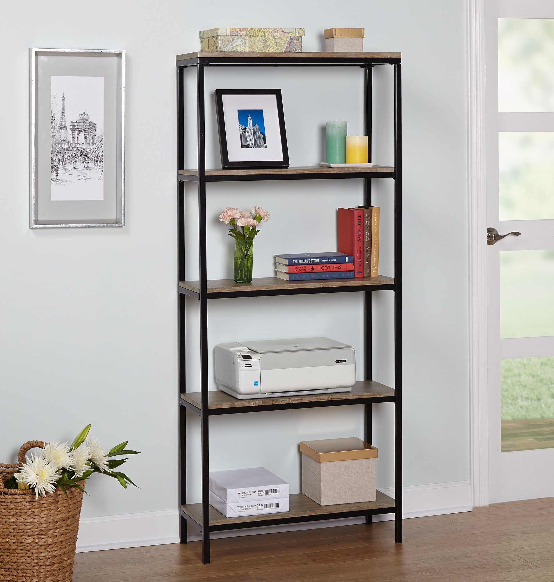 Laurel Foundry Modern Farmhouse Forteau Etagere Bookcase & Reviews -