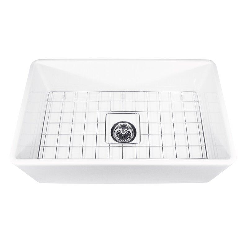 Kitchen Sink Grates Cape 30 x 18 farmhouse kitchen sink with sink grid reviews cape 30 x 18 farmhouse kitchen sink with sink grid workwithnaturefo