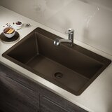 Granite Composite 33 L x 21 W Drop-in Kitchen Sink with Flange